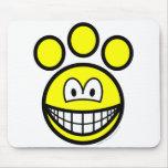 Paw print smile   mousepad