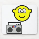 Boom box radio buddy icon   mousepad