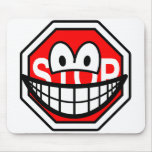 Stop sign smile   mousepad