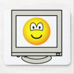 Computer screen emoticon   mousepad