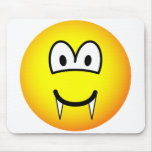 Vampire emoticon (before lunch)  mousepad