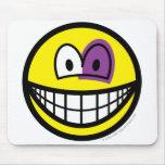 Black eyed smile   mousepad