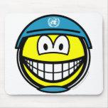UN soldier smile   mousepad