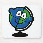 Globe buddy icon   mousepad