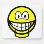 Jaw dropped smile   mousepad