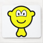 Buddy icon with balls   mousepad