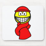 Cold weather smile   mousepad