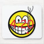 Stoner 4:20 smile   mousepad