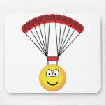 Parachute emoticon   mousepad