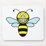 Bumble bee smile   mousepad