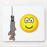 Fish caught emoticon   mousepad