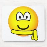 Yellow belt emoticon   mousepad