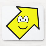 Up right buddy icon arrow  mousepad