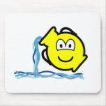 Aquarius buddy icon Zodiac sign  mousepad
