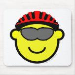 Biker buddy icon glasses  mousepad
