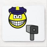 Lazer gun cop smile   mousepad