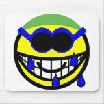 Swimming smile   mousepad
