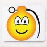 Grenade emoticon   mousepad