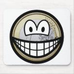 Euro coin smile   mousepad