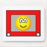 Etch a sketch emoticon   mousepad
