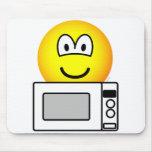 Microwaving emoticon   mousepad