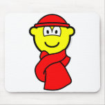 Cold weather buddy icon   mousepad
