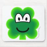 Clover emoticon   mousepad