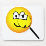 Magnified emoticon   mousepad