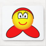 Little red riding hood emoticon   mousepad