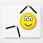 Nunchaku emoticon martial arts  mousepad
