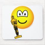 Oscar winning emoticon   mousepad