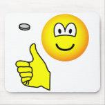 Coin flip emoticon   mousepad