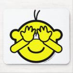 Peek-a-boo buddy icon   mousepad