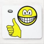 Coin flip smile   mousepad