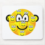 Multiple personality emoticon   mousepad