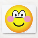 Blushing emoticon Embarrassed  mousepad