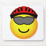 Biker emoticon glasses  mousepad