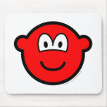 Colored buddy icon red  mousepad