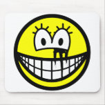 Running makeup smile   mousepad