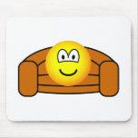 Couch potato emoticon   mousepad