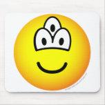 Drieoogige emoticon   mousepad