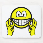 Fingers crossed smile   mousepad