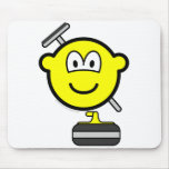 Curling buddy icon   mousepad