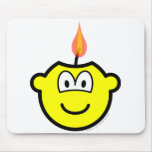Candle buddy icon   mousepad
