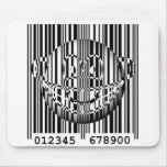 Bar code emoticon   mousepad