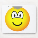 Thinking emoticon Cogs  mousepad
