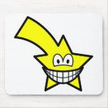 Shooting star smile   mousepad