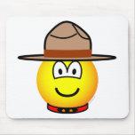 Canadian mountie emoticon   mousepad