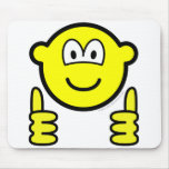 Thumbs up buddy icon   mousepad