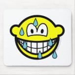 Sweating smile   mousepad